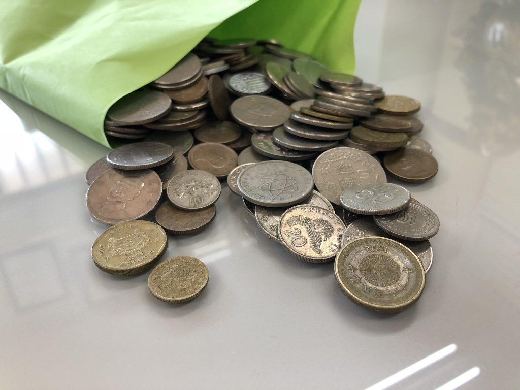 外国コイン募金