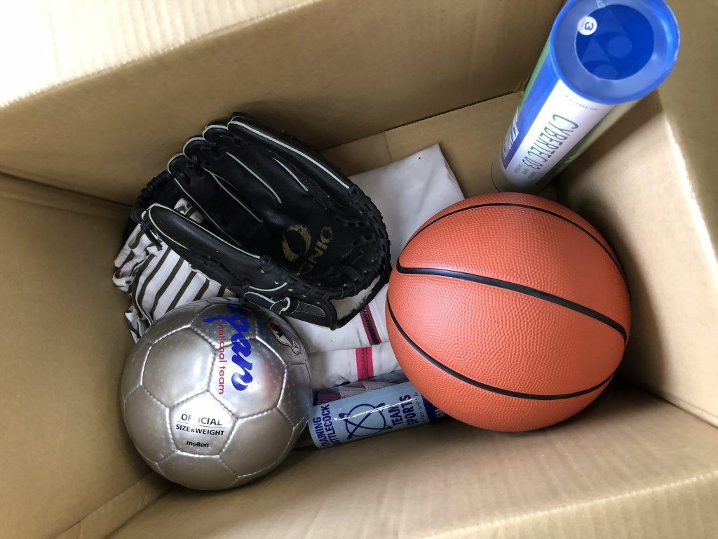 野球用品 寄付