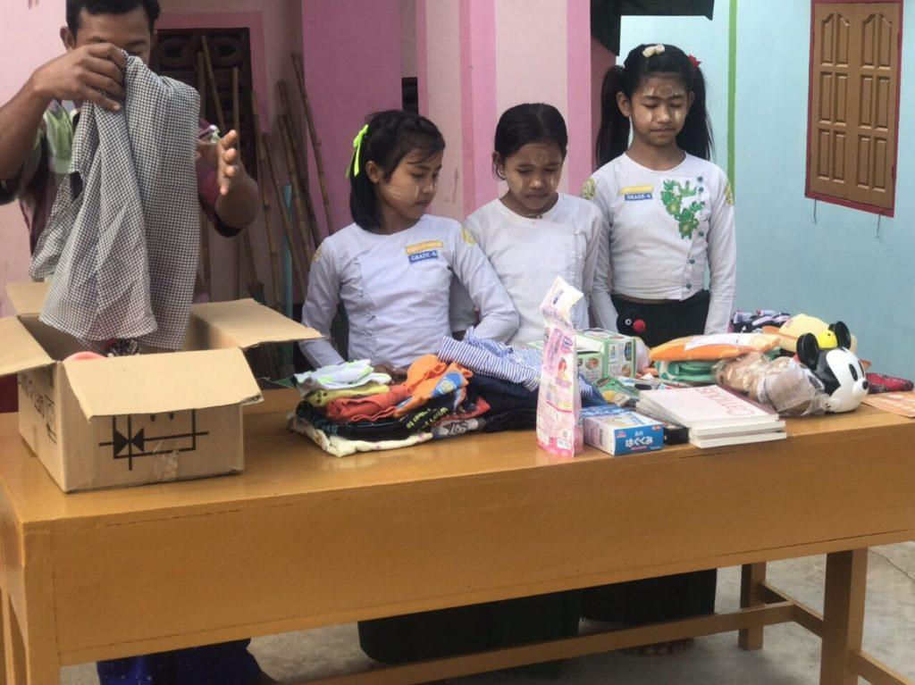 ミャンマー 物資支援