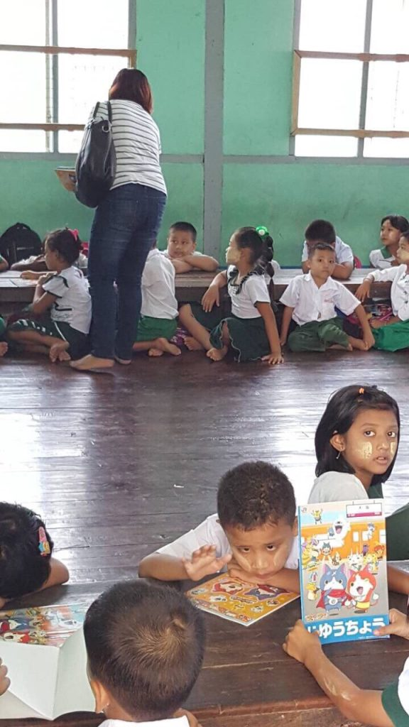 ミャンマー 文房具 寄付